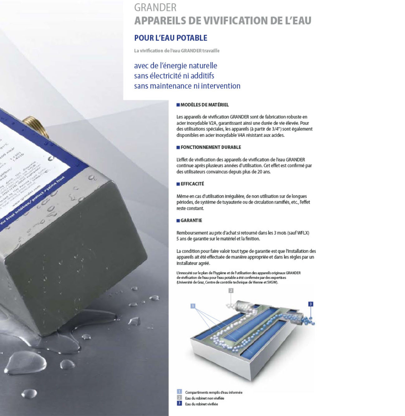 Vivificateur d'eau potable W300 GRANDER